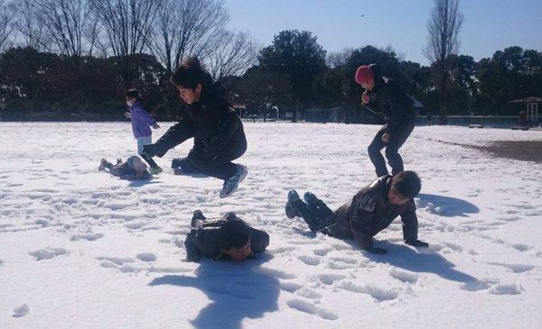 雪上!かけっこ教室(1月27日)