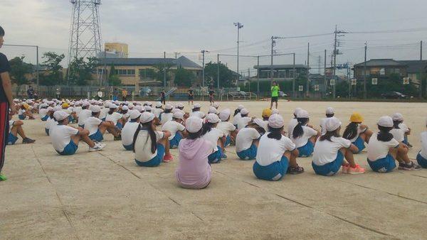 小学校陸上練習臨時コーチとして。